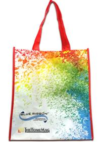 Rainbow reusable shopping bag